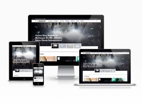 kişisel blog sitesi şablonu
