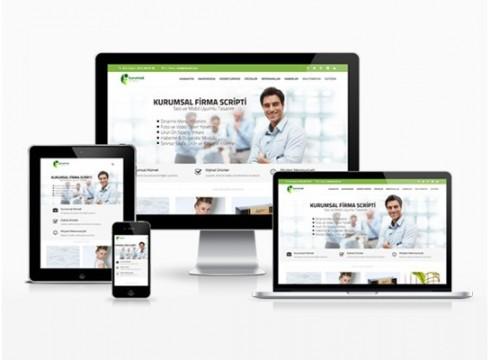 hazır kurumsal firma sitesi